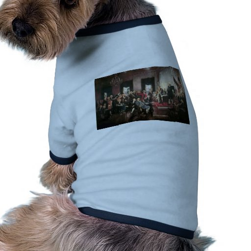The Signing of the Constitution Dog Tshirt