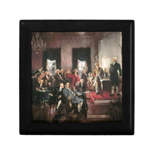 The Signing of the Constitution Jewelry Boxes
