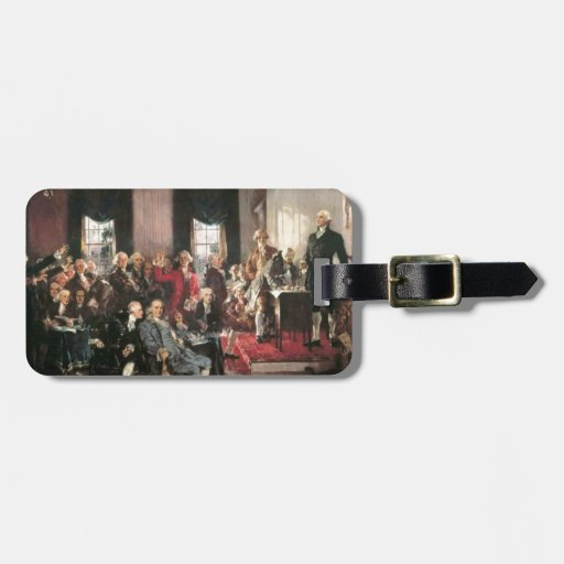 The Signing of the Constitution Travel Bag Tag