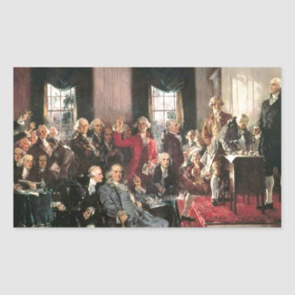 The Signing of the Constitution Rectangular Sticker
