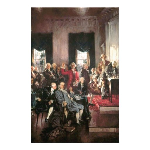 The Signing of the Constitution Personalized Stationery