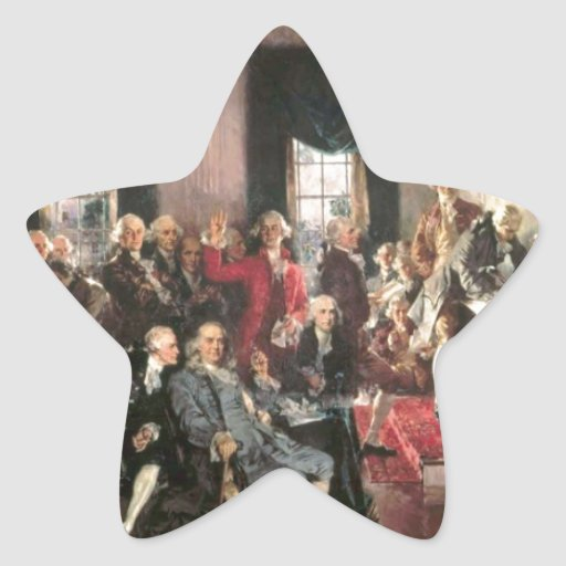 The Signing of the Constitution Star Stickers