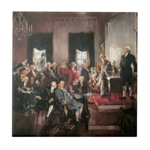 The Signing of the Constitution Tiles