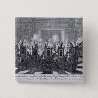 The Signing of the Treaty of Utrecht 15 Cm Square Badge
