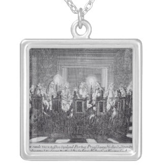 The Signing of the Treaty of Utrecht Silver Plated Necklace