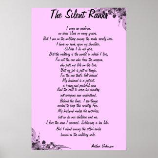 """The Silent Ranks"" poem Poster"