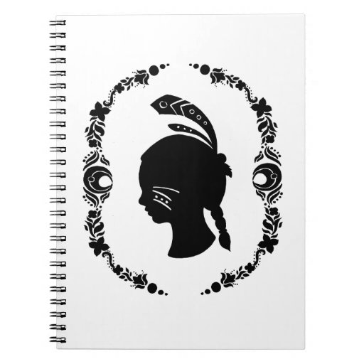 The Silhouette of Native American Girl Notebook