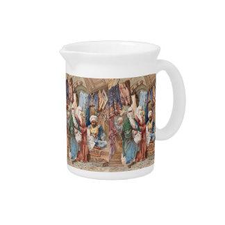 """""""The Silk Bazaar"""" art pitcher"""