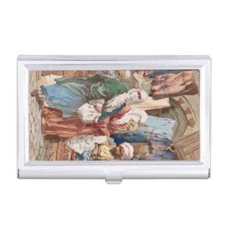 """The Silk Bazaar"" business card holder"