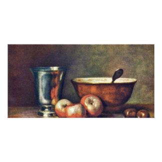 The Silver Beaker By Chardin Jean-Baptiste Siméon Photo Cards