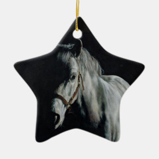 The Silver Horse in the shadows Ceramic Star Decoration