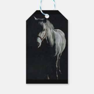 The Silver Horse in the shadows Gift Tags