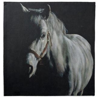 The Silver Horse in the shadows Napkin
