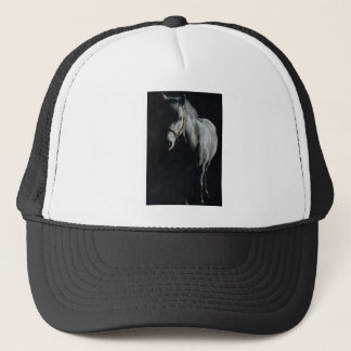 The Silver Horse in the shadows Trucker Hat