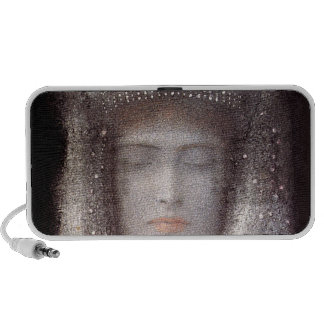 The Silver Tiara- Silver Crown - by Odilon Redon Notebook Speaker