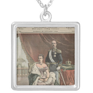 The Silver Wedding Anniversary of the King Silver Plated Necklace