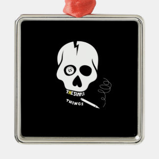 The simple things skull christmas ornament