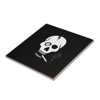 The simple things skull small square tile