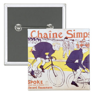The Simpson Chain, 1896 Pinback Button