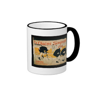 The Simpson Chain Paris colour litho Coffee Mugs