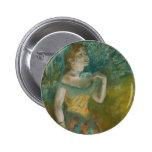 The Singer in Green - Edgar Degas Badges