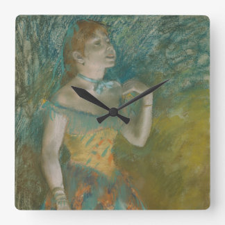 The Singer in Green Square Wall Clock