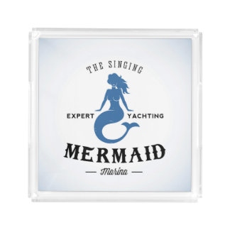 The Singing Mermaid Poster Acrylic Tray