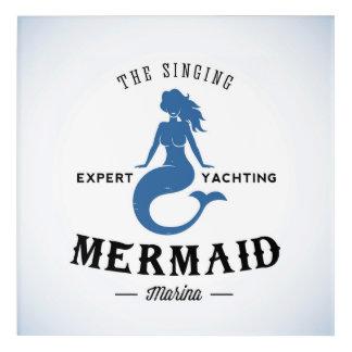 The Singing Mermaid Poster Acrylic Wall Art