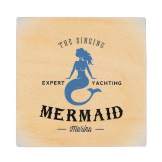 The Singing Mermaid Poster Maple Wood Coaster