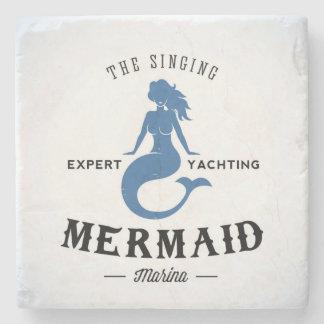 The Singing Mermaid Poster Stone Coaster