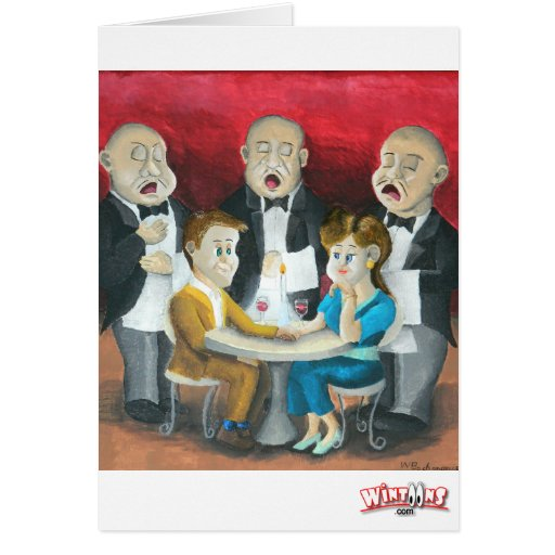 The Singing Waiters Card