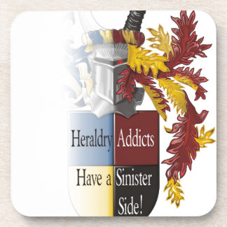 The Sinister Side of Heraldry Drink Coaster