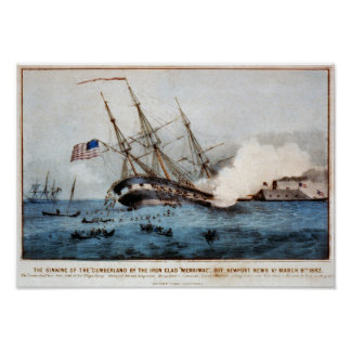 "The sinking of the ""Cumberland"" Posters"