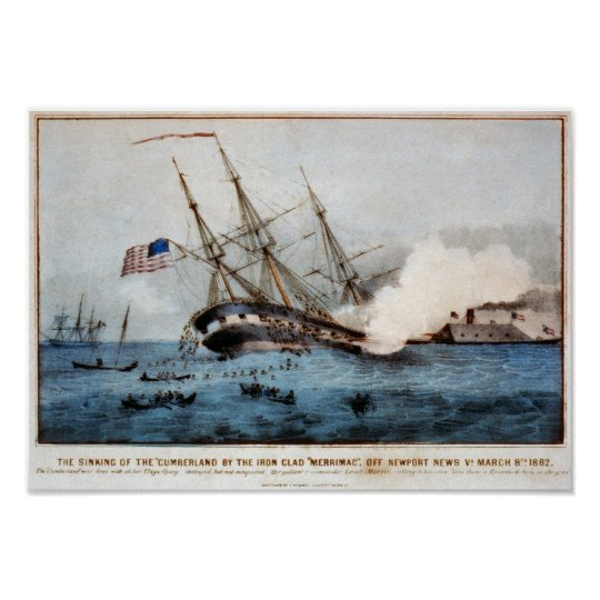 """The sinking of the """"Cumberland"""" Poster"""