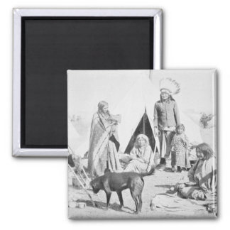 The Sioux Reservation at Pine Ridge, South Dakota, Square Magnet