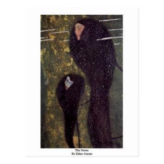 The Sirens By Klimt Gustav Postcard