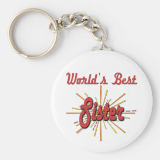 The Sister Collection Basic Round Button Key Ring