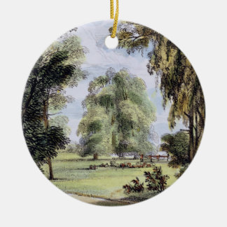 The Sister Trees, Kew Gardens, plate 8 from 'Kew G Christmas Ornament