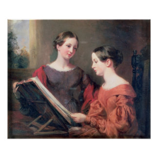 The Sisters, 1839 Poster