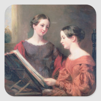 The Sisters, 1839 Square Sticker