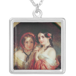 The Sisters Square Pendant Necklace