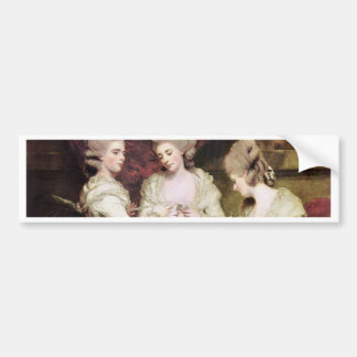 The Sisters Waldegrave By Reynolds Sir Joshua Bumper Sticker