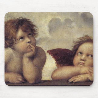 The Sistine Madonna (detail) Mouse Pad