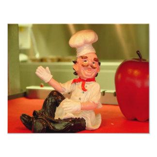 The Sitting Chef 11 Cm X 14 Cm Invitation Card