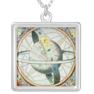 The Situation of the Earth in the Heavens Silver Plated Necklace