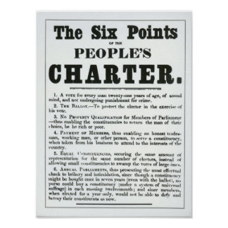 The Six Points of the People s Charter Print