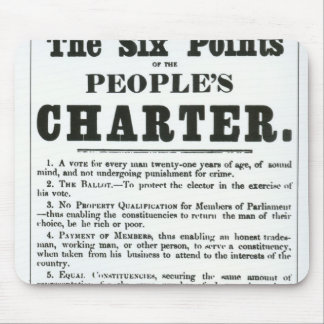 The Six Points of the People's Charter Mouse Mat