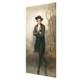 The Skater (Portrait of William Grant) Canvas Print