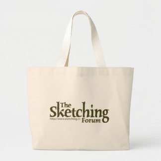 The Sketching Forum Logo with URL Tote Bags