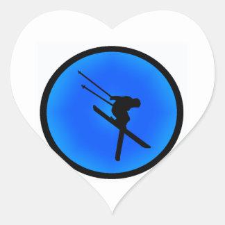 THE SKI DREAM HEART STICKER